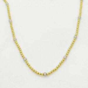 Collana con sfere in oro giallo