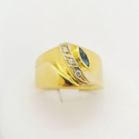 anello fascia oro giallo diamanti jesi