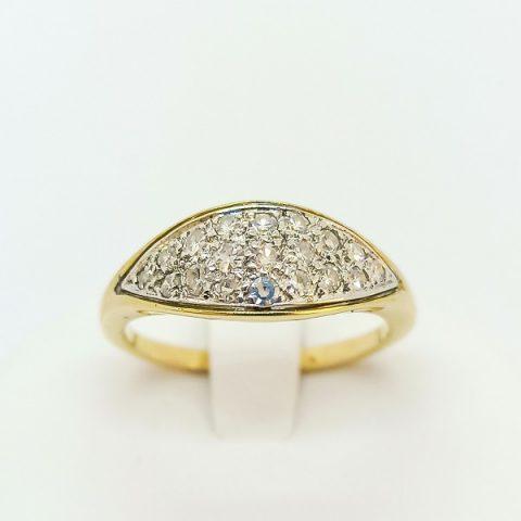 anello oro giallo diamanti jesi 1