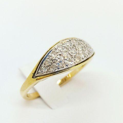 anello oro giallo diamanti jesi 2