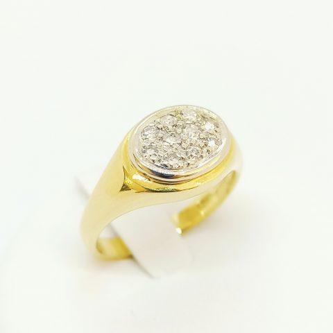 anello oro giallo diamanti jesi