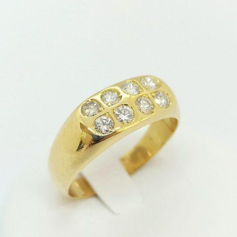 anello oro giallo diamanti quadrifogli jesi 2