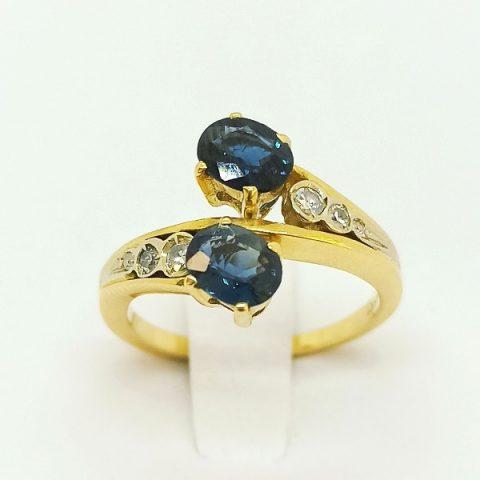 anello oro zaffiri diamanti contrarie jesi 2