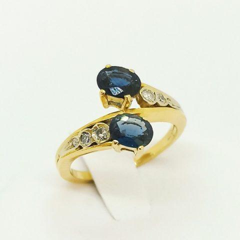 anello oro zaffiri diamanti contrarie jesi