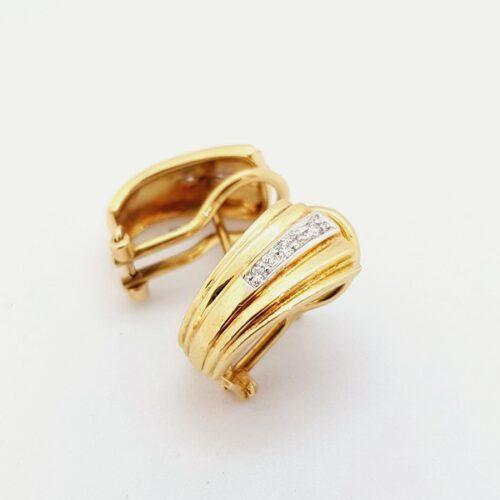 orecchini oro diamanti jesi