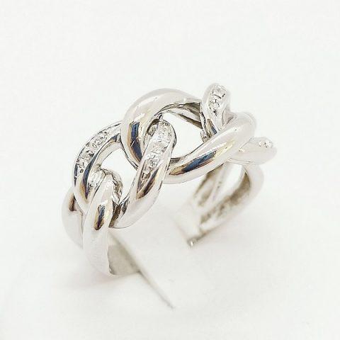 anello oro bianco diamanti fascia jesi 2