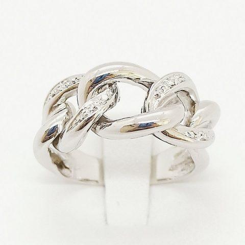 anello oro bianco diamanti fascia jesi