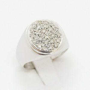 anello oro bianco pave jesi 2