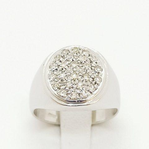 anello oro bianco pave jesi
