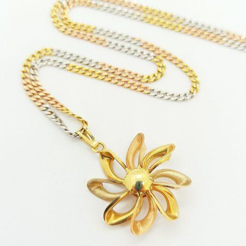 collana oro tricolore fiore jesi 2