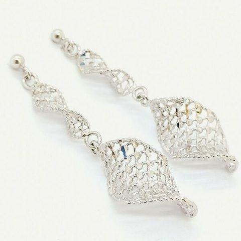 orecchini oro bianco pendenti jesi