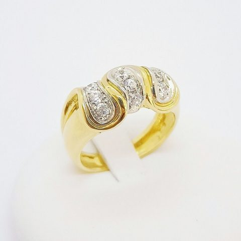 anello oro giallo zirconi fantasia jesi 2