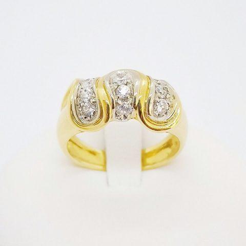 anello oro giallo zirconi fantasia jesi