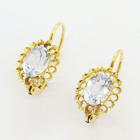 orecchini oro giallo topazio monachella jesi